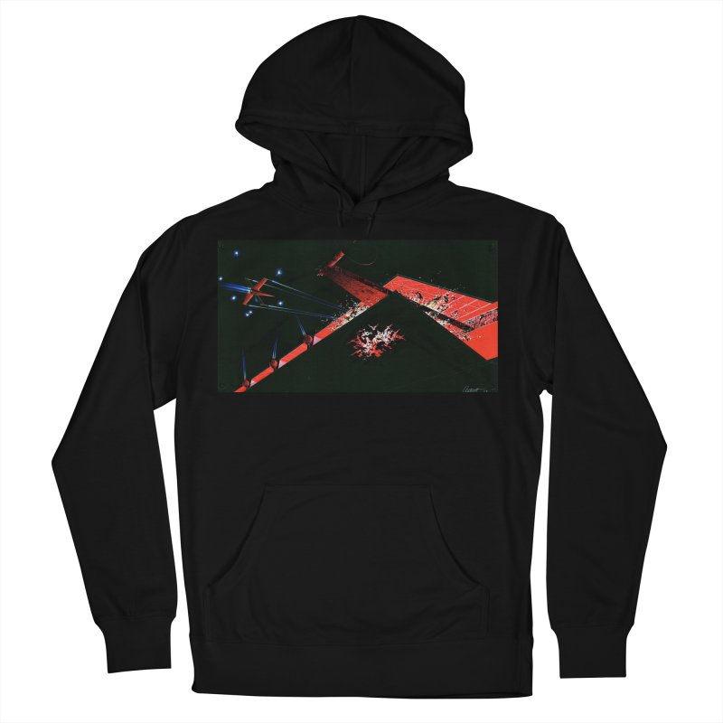 Spaceship Concept 1 Men's Pullover Hoody by Colin Cantwell