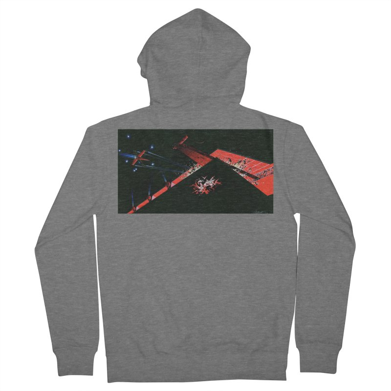 Spaceship Concept 1 Women's French Terry Zip-Up Hoody by Colin Cantwell