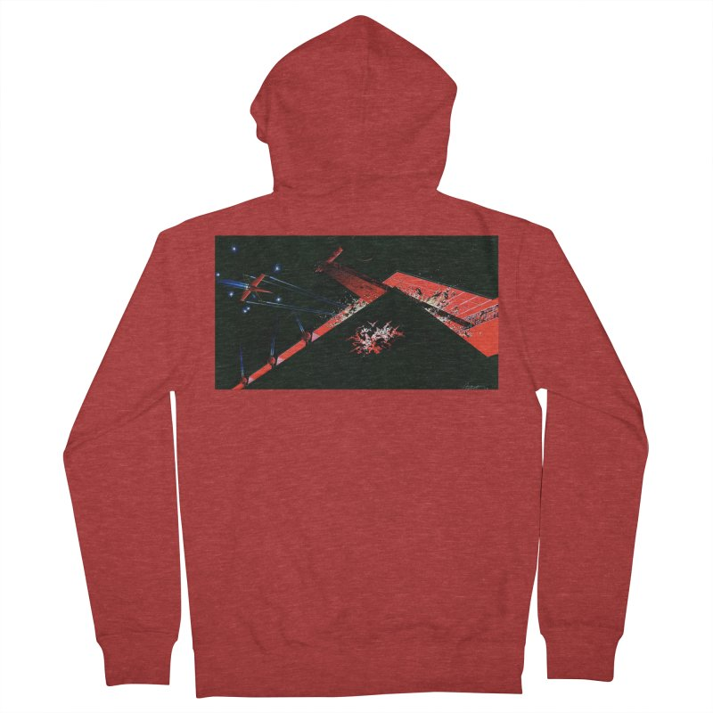 Spaceship Concept 1 Men's French Terry Zip-Up Hoody by Colin Cantwell