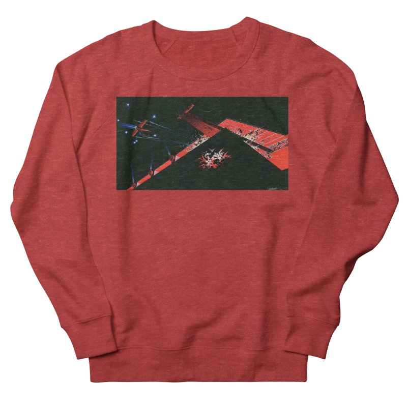 Spaceship Concept 1 Women's French Terry Sweatshirt by Colin Cantwell