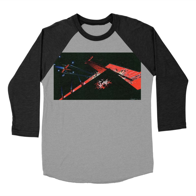 Spaceship Concept 1 Women's Baseball Triblend T-Shirt by Colin Cantwell