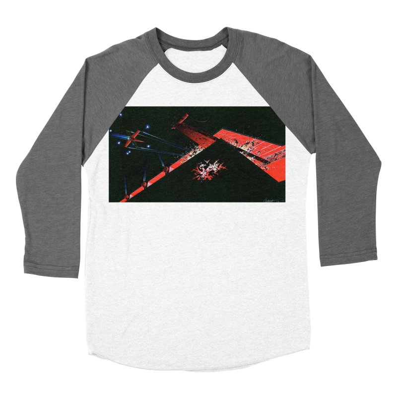 Spaceship Concept 1 Men's Baseball Triblend Longsleeve T-Shirt by Colin Cantwell