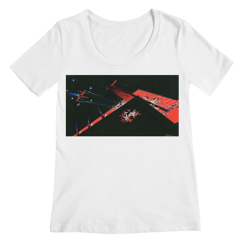 Spaceship Concept 1 Women's Regular Scoop Neck by Colin Cantwell