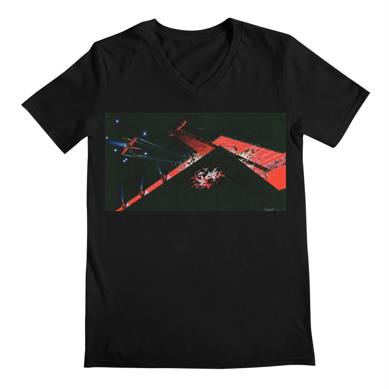 Spaceship Concept 1 Men's Regular V-Neck by Colin Cantwell