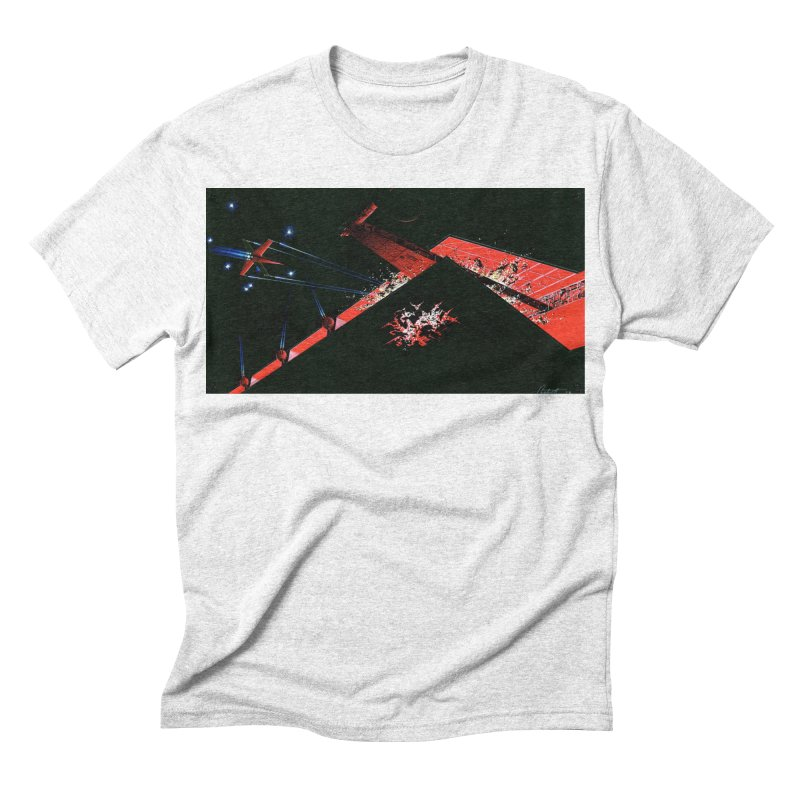 Spaceship Concept 1 Men's Triblend T-shirt by Colin Cantwell