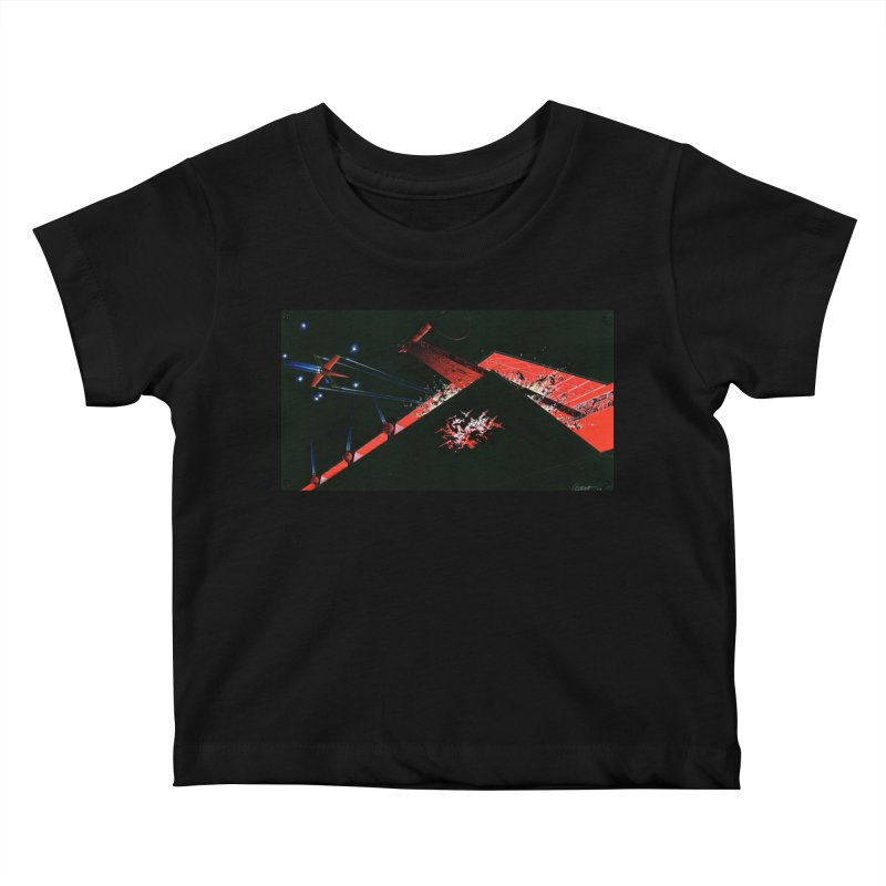 Spaceship Concept 1 Kids Baby T-Shirt by Colin Cantwell