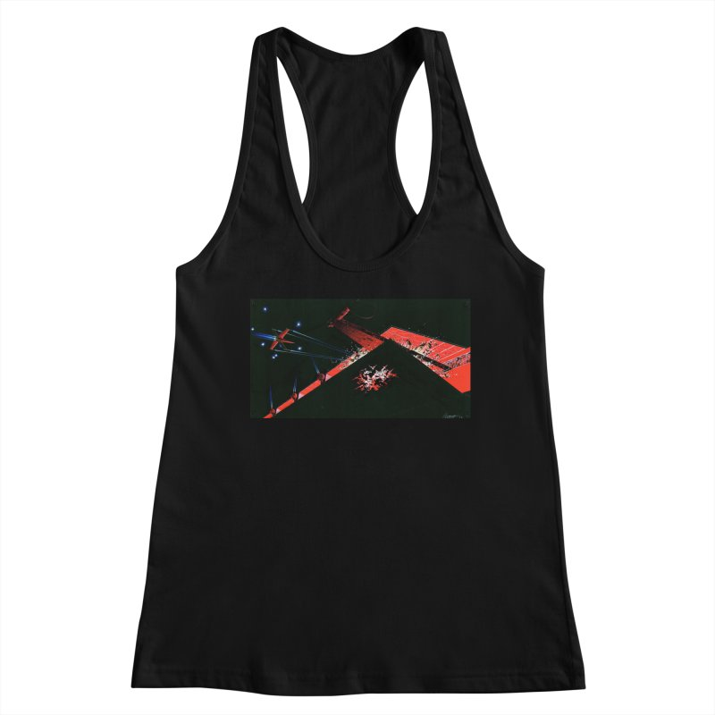 Spaceship Concept 1 Women's Racerback Tank by Colin Cantwell