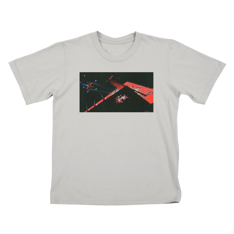 Spaceship Concept 1 Kids T-Shirt by Colin Cantwell
