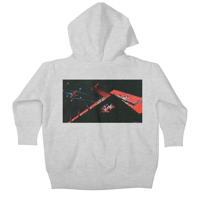 Spaceship Concept 1 Kids Baby Zip-Up Hoody by Colin Cantwell