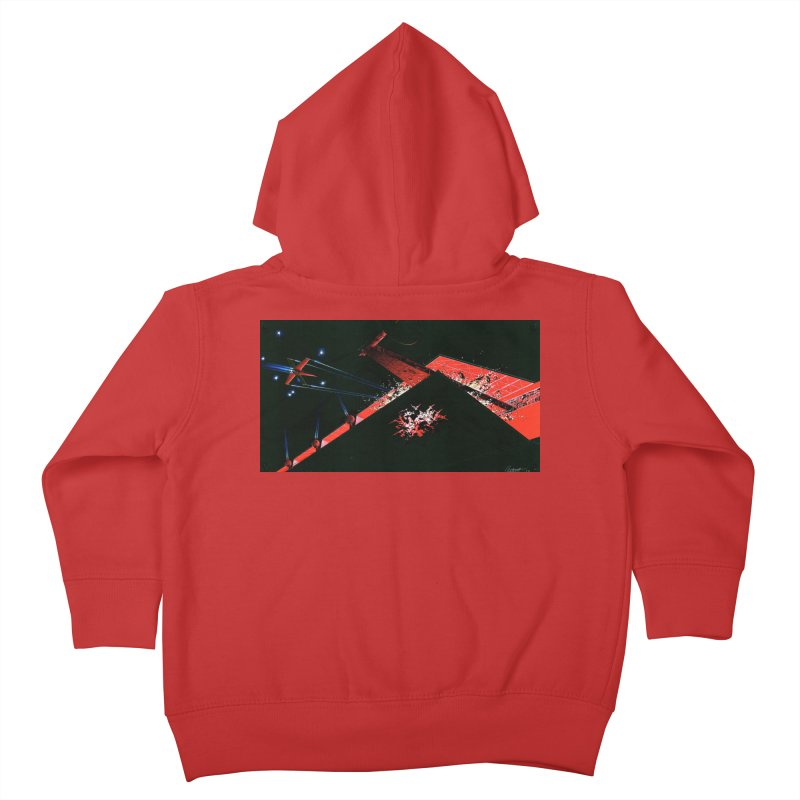 Spaceship Concept 1 Kids Toddler Zip-Up Hoody by Colin Cantwell