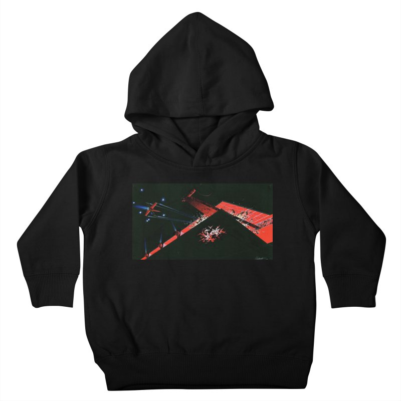 Spaceship Concept 1 Kids Toddler Pullover Hoody by Colin Cantwell