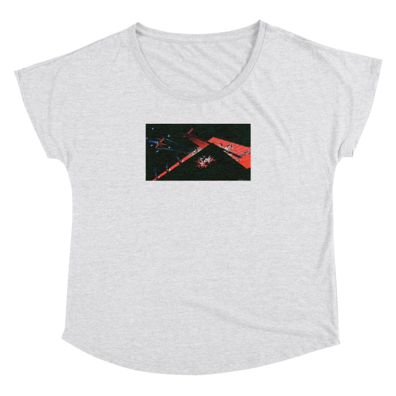 Spaceship Concept 1 Women's Dolman Scoop Neck by Colin Cantwell
