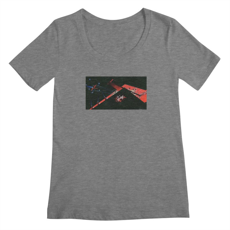 Spaceship Concept 1 Women's Scoopneck by Colin Cantwell