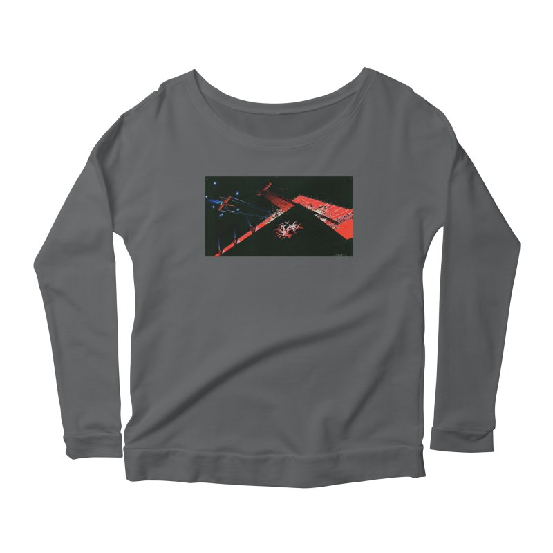 Spaceship Concept 1 Women's Scoop Neck Longsleeve T-Shirt by Colin Cantwell