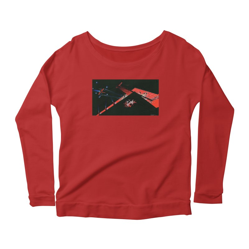 Spaceship Concept 1 Women's Longsleeve Scoopneck  by Colin Cantwell