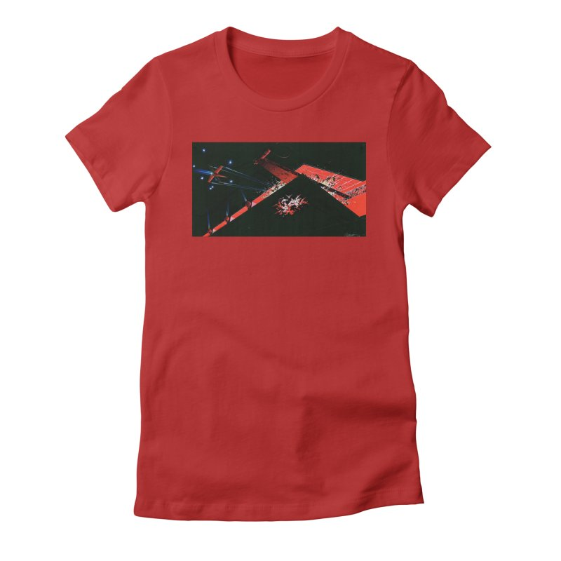 Spaceship Concept 1 Women's Fitted T-Shirt by Colin Cantwell