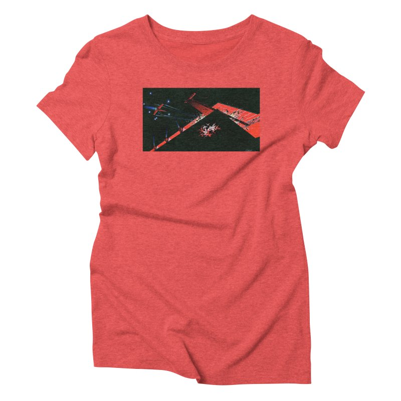 Spaceship Concept 1 Women's Triblend T-shirt by Colin Cantwell
