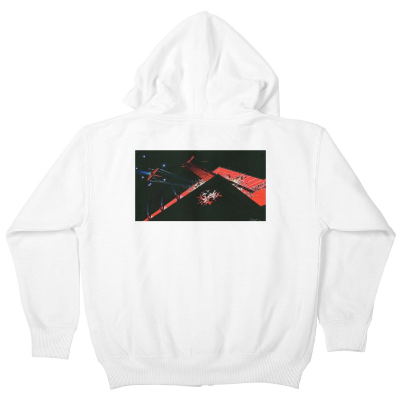 Spaceship Concept 1 Kids Zip-Up Hoody by Colin Cantwell