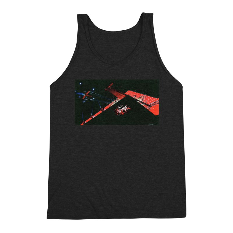 Spaceship Concept 1 Men's Triblend Tank by Colin Cantwell