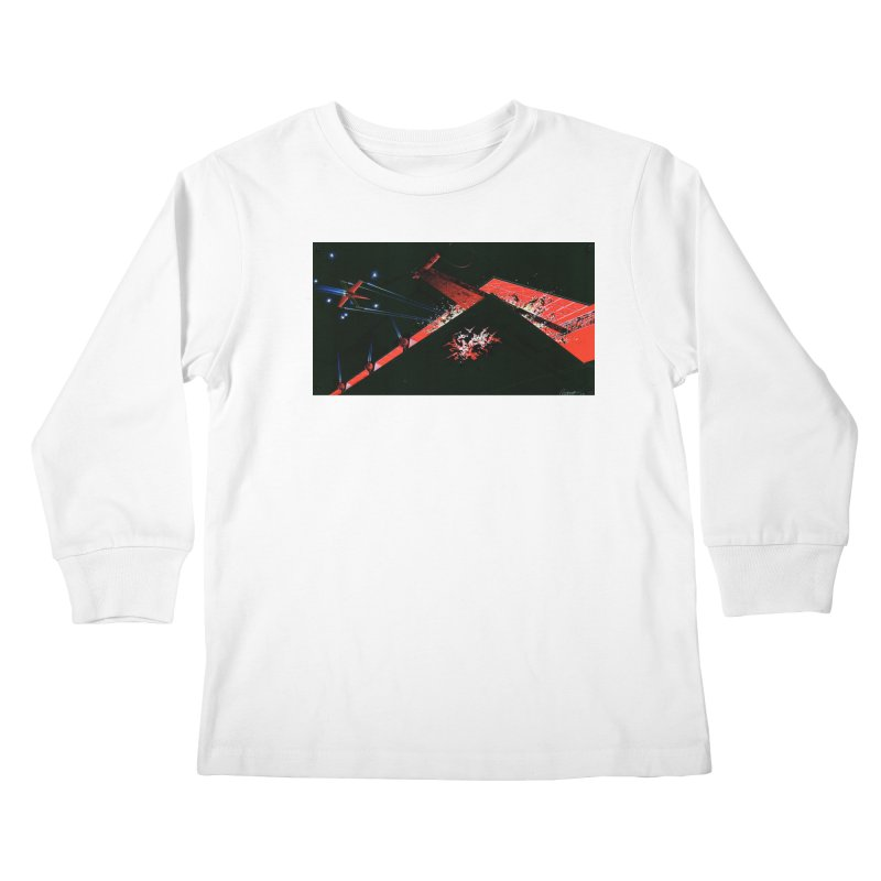 Spaceship Concept 1 Kids Longsleeve T-Shirt by Colin Cantwell