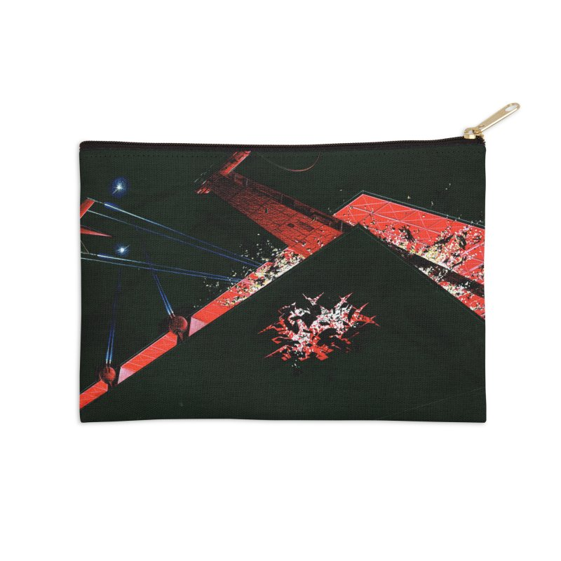 Spaceship Concept 1 Accessories Zip Pouch by Colin Cantwell