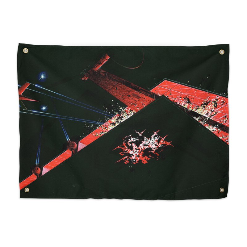 Spaceship Concept 1 Home Tapestry by Colin Cantwell