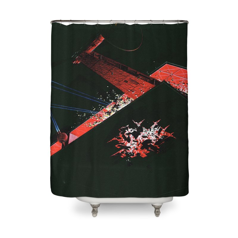 Spaceship Concept 1 Home Shower Curtain by Colin Cantwell