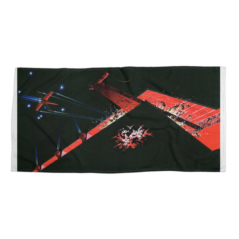 Spaceship Concept 1 Accessories Beach Towel by Colin Cantwell