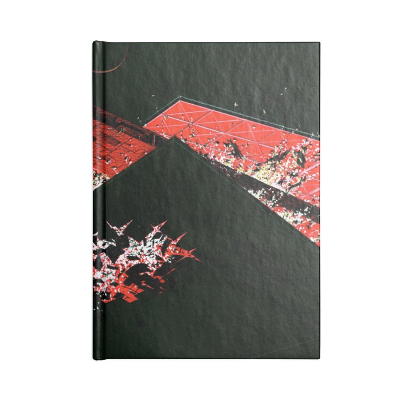 Spaceship Concept 1 Accessories Lined Journal Notebook by Colin Cantwell
