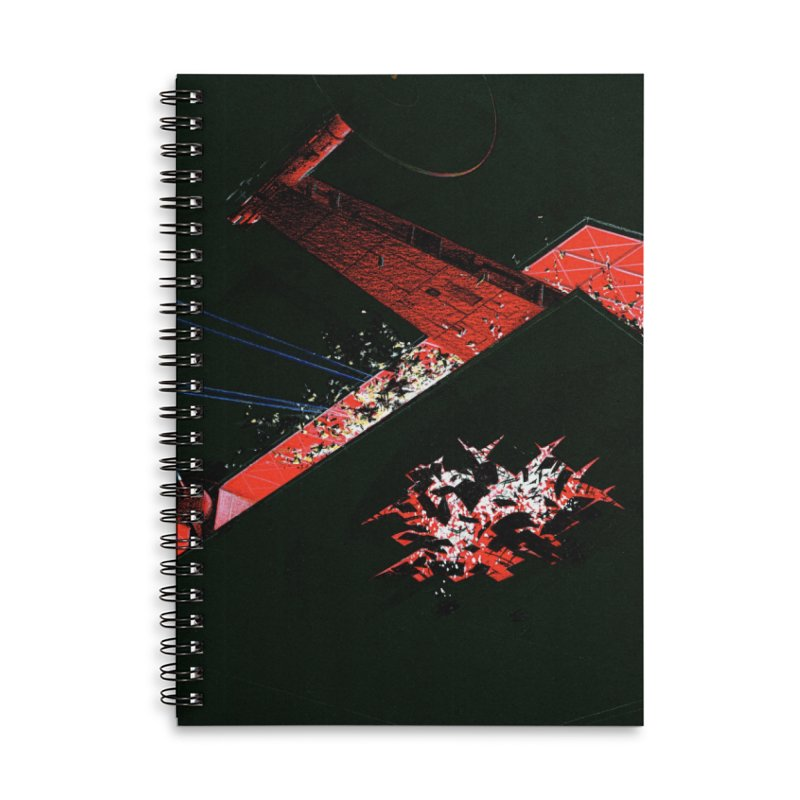 Spaceship Concept 1 Accessories Lined Spiral Notebook by Colin Cantwell