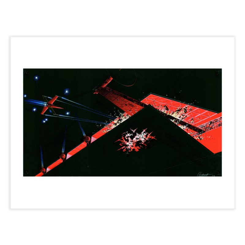 Spaceship Concept 1 Home Fine Art Print by Colin Cantwell