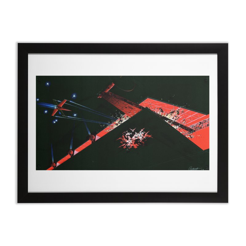 Spaceship Concept 1 Home Framed Fine Art Print by Colin Cantwell
