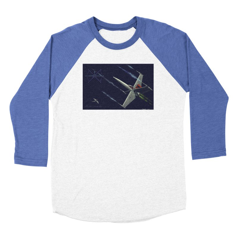 Concept 2 Women's Baseball Triblend Longsleeve T-Shirt by Colin Cantwell