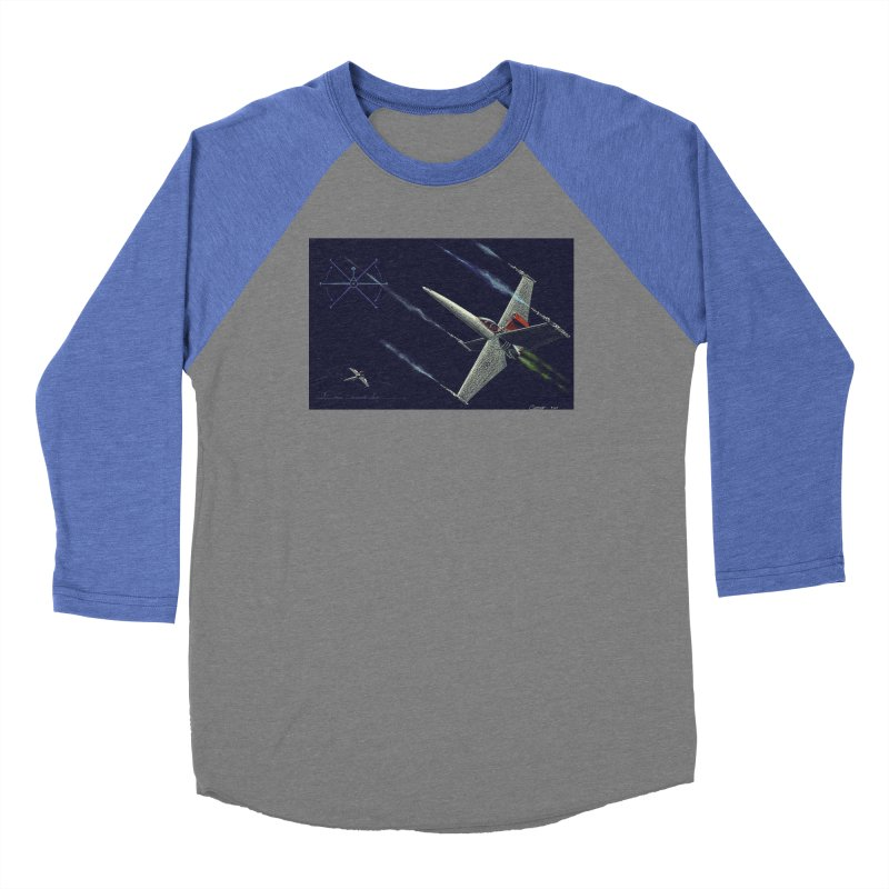 Concept 2 Men's Baseball Triblend Longsleeve T-Shirt by Colin Cantwell