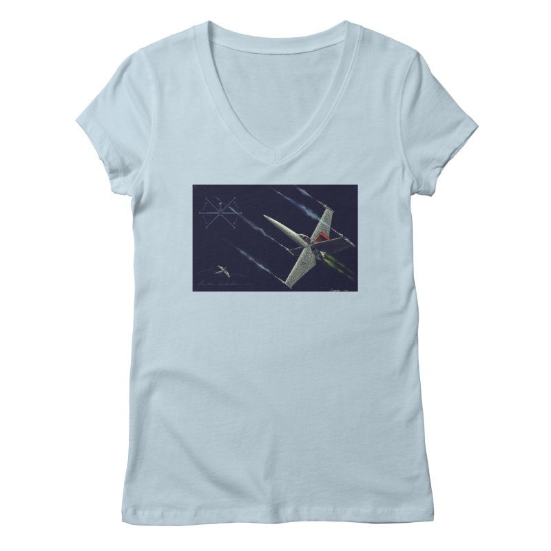 Concept 2 Women's Regular V-Neck by Colin Cantwell