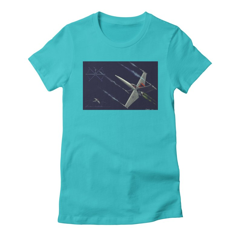 Concept 2 Women's Fitted T-Shirt by Colin Cantwell