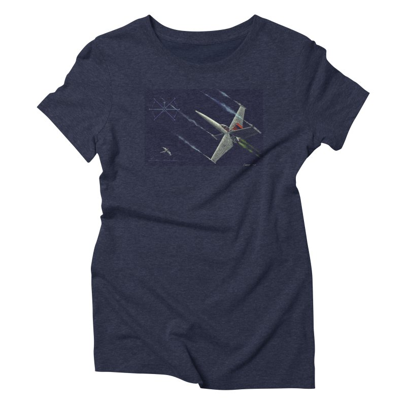 Concept 2 Women's Triblend T-Shirt by Colin Cantwell