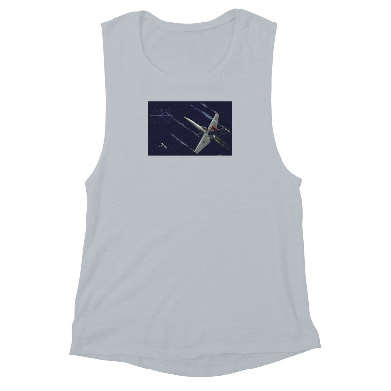 Concept 2 Women's Muscle Tank by Colin Cantwell