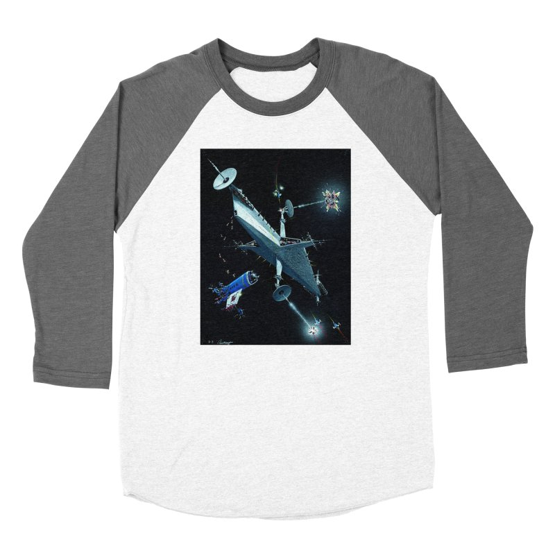 Concept 3 Men's Baseball Triblend Longsleeve T-Shirt by Colin Cantwell
