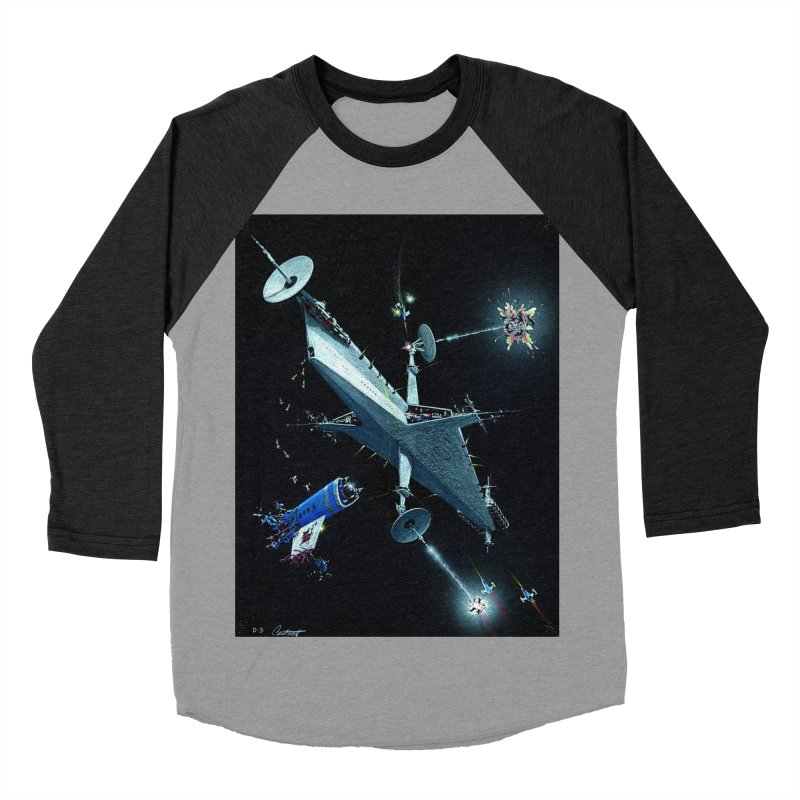 Concept 3 Women's Baseball Triblend Longsleeve T-Shirt by Colin Cantwell