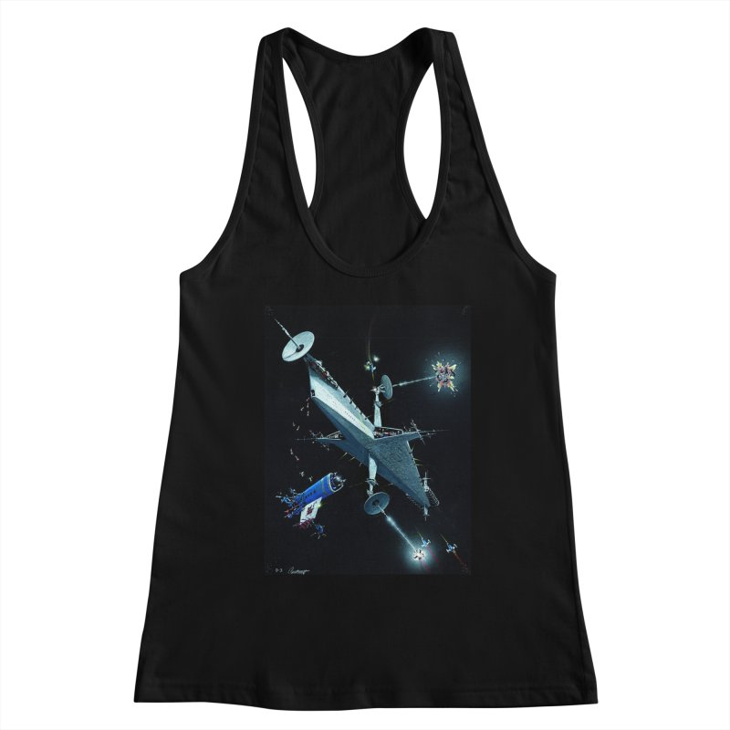 Concept 3 Women's Racerback Tank by Colin Cantwell