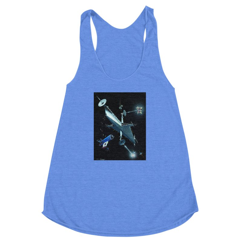 Concept 3 Women's Racerback Triblend Tank by Colin Cantwell