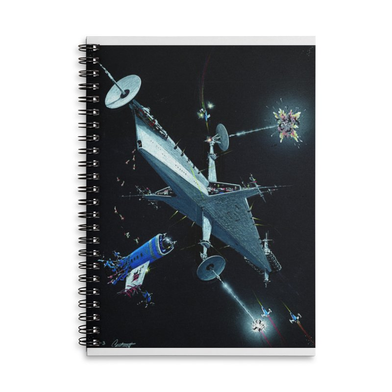 Concept 3 Accessories Lined Spiral Notebook by Colin Cantwell