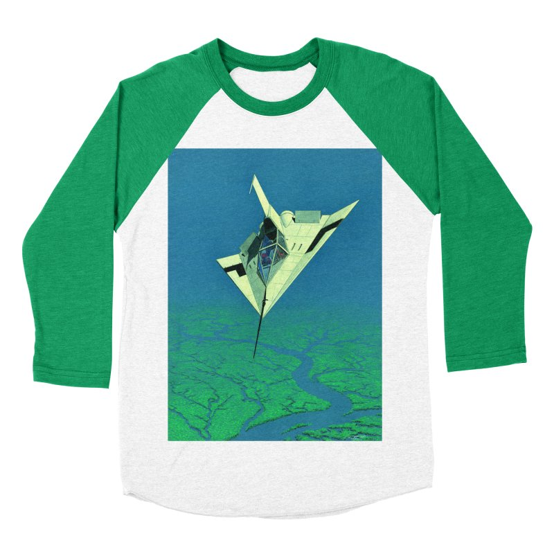Concept 5 Women's Baseball Triblend Longsleeve T-Shirt by Colin Cantwell