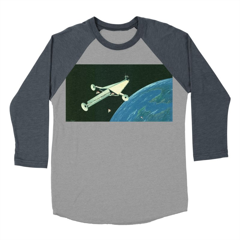 Concept 6 Men's Baseball Triblend Longsleeve T-Shirt by Colin Cantwell