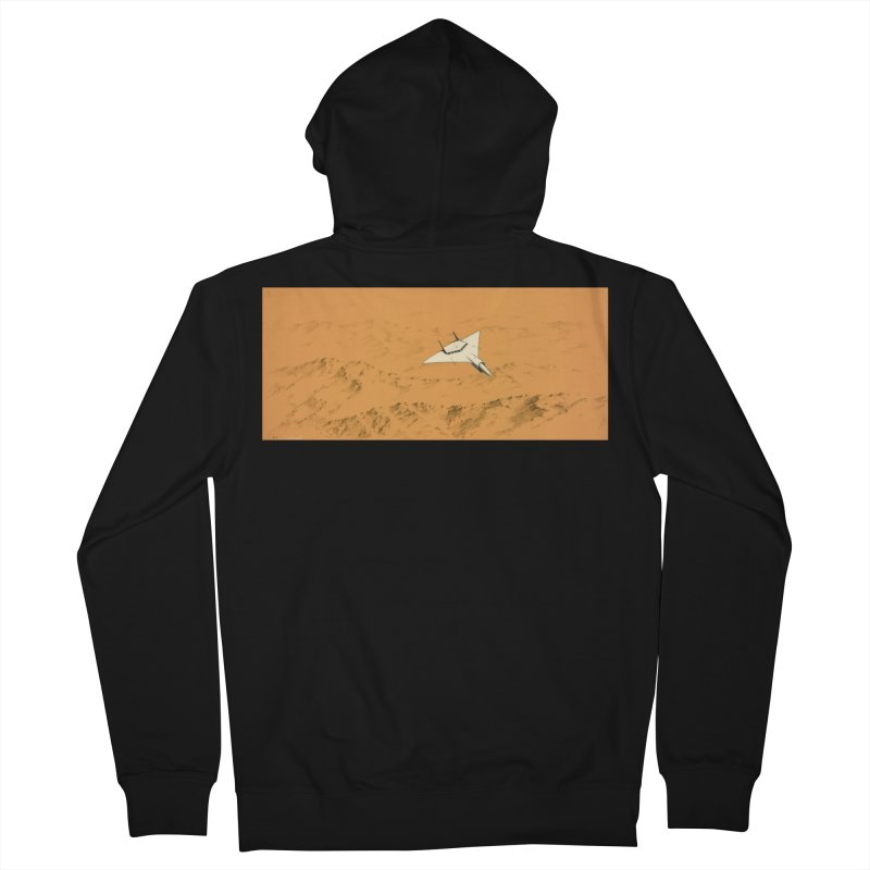 Concept Ship 7 Men's French Terry Zip-Up Hoody by Colin Cantwell ll