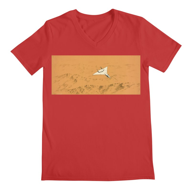 Concept Ship 7 Men's Regular V-Neck by Colin Cantwell ll