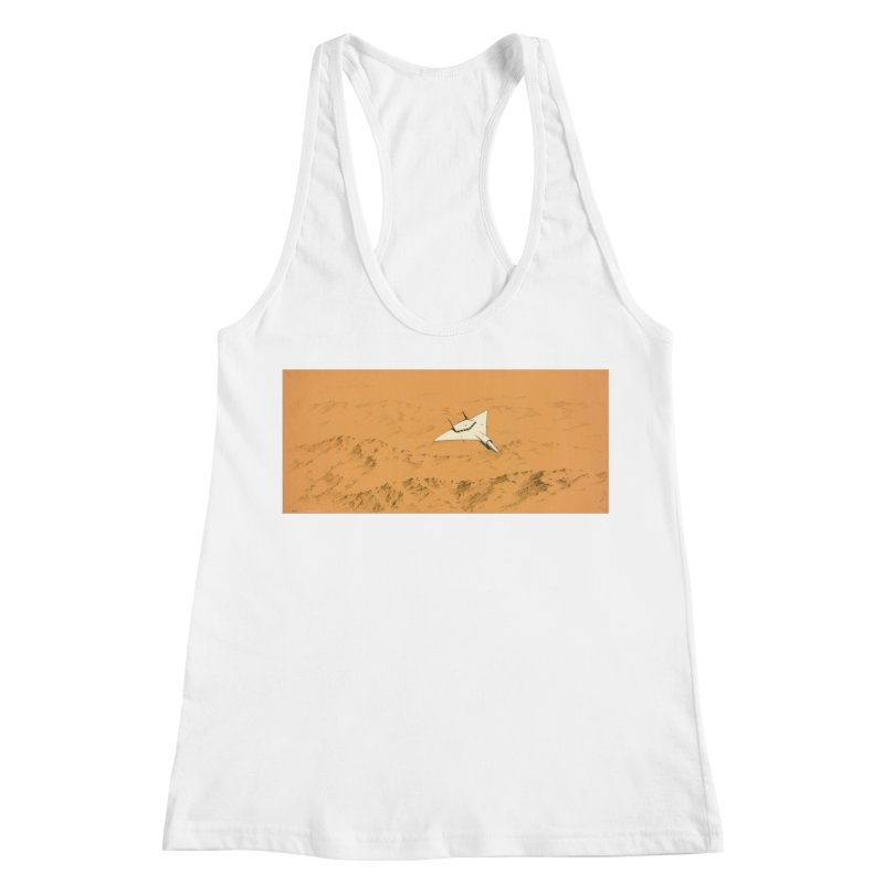 Concept Ship 7 Women's Racerback Tank by Colin Cantwell ll