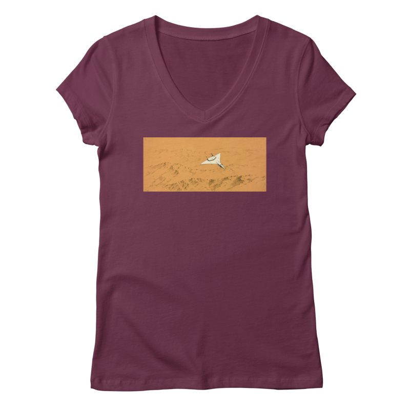 Concept Ship 7 Women's V-Neck by Colin Cantwell ll