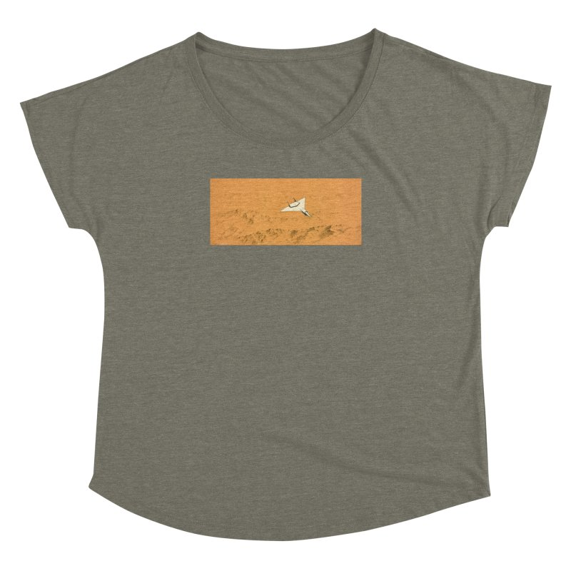 Concept Ship 7 Women's Dolman Scoop Neck by Colin Cantwell ll